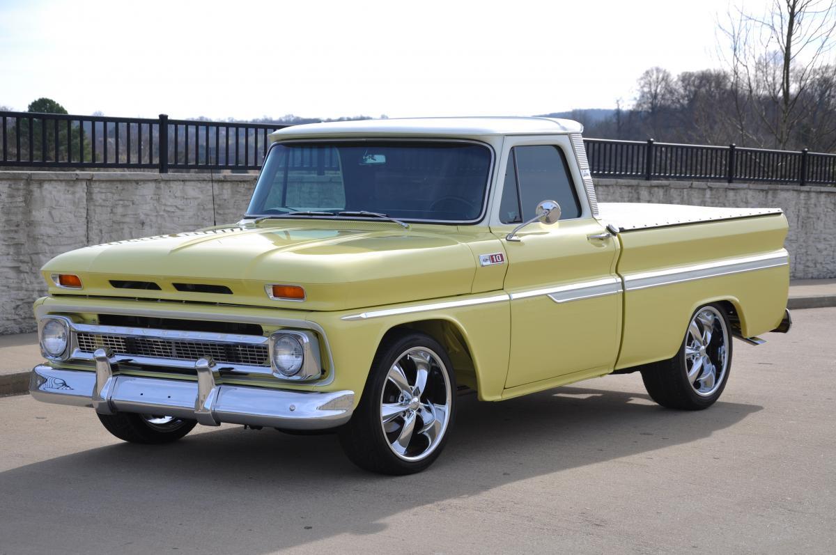 1965 chevrolet short bed street rod pickup