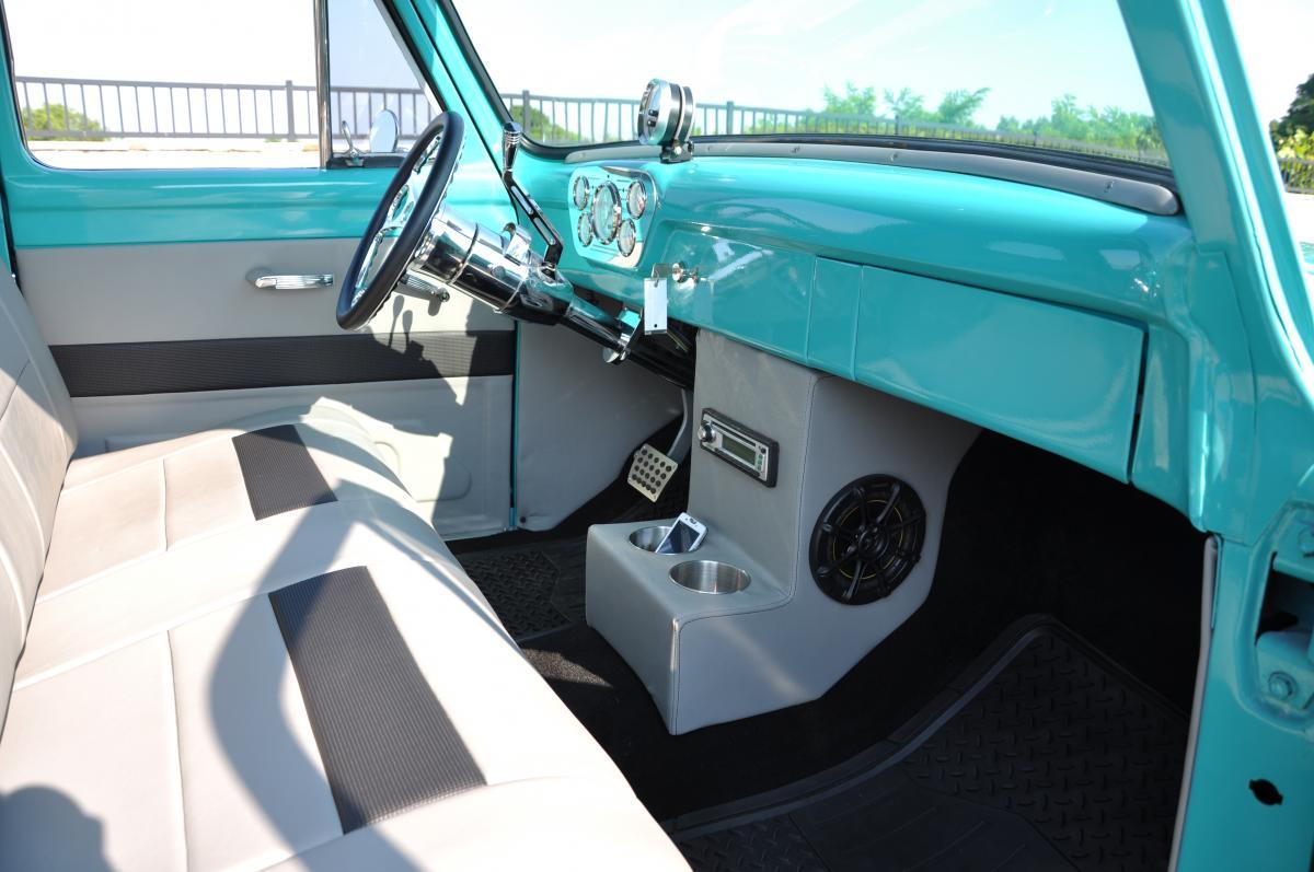 1955 Ford F100 Steering Wheel Truck Interior 1200x797