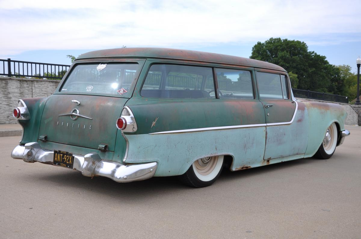 1955 pontiac chieftain 2 door wagon for 1955 ford 2 door wagon