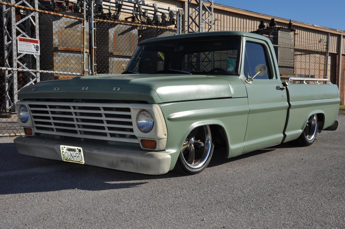 1971 FORD F100 PICKUP, AIR BAGGED CUSTOM TRUCK. CROWN VIC FRONT ...